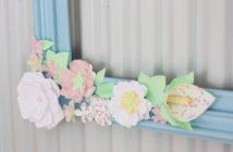 gwenadeco cadre fleurs en papier pastel
